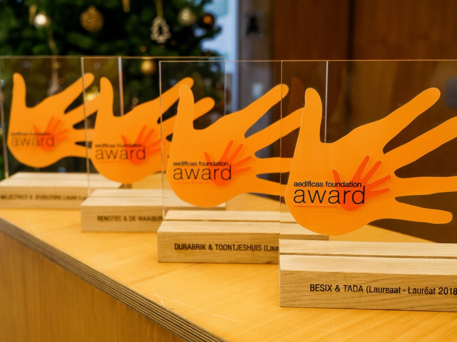 Toontjeshuis wint Aedificas Foundation Award!